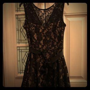 Knee-length Black Lace Formal dress sz 16 juniors